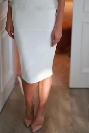 """""""Dailus"""" (baltas) sijonas"""