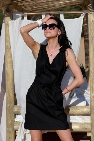 """""""Pipiras"""" juodo lino suknelė"""